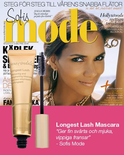 Sofies Mode tipsar om Longest Lash mascara från Jane Iredale