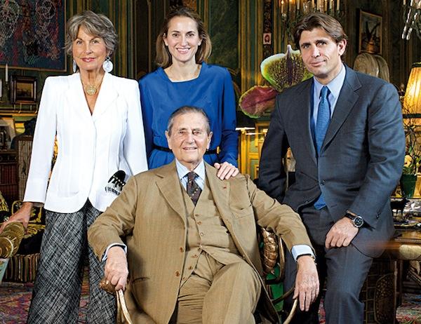 Isabelle, Christine, Hubert et Philippe d'Ornano