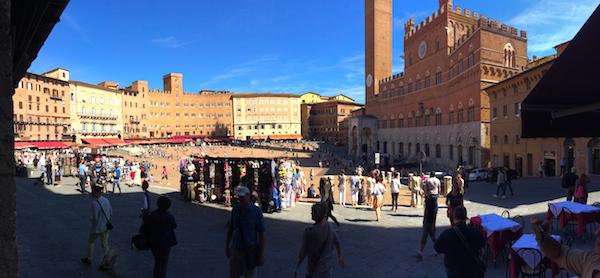 Torg i Siena, Italien