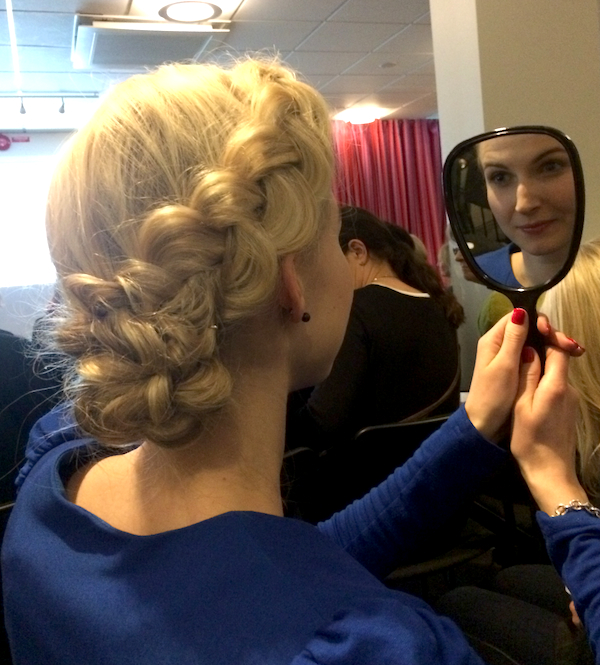 Andrea Olofsson Clarins Event Hair two
