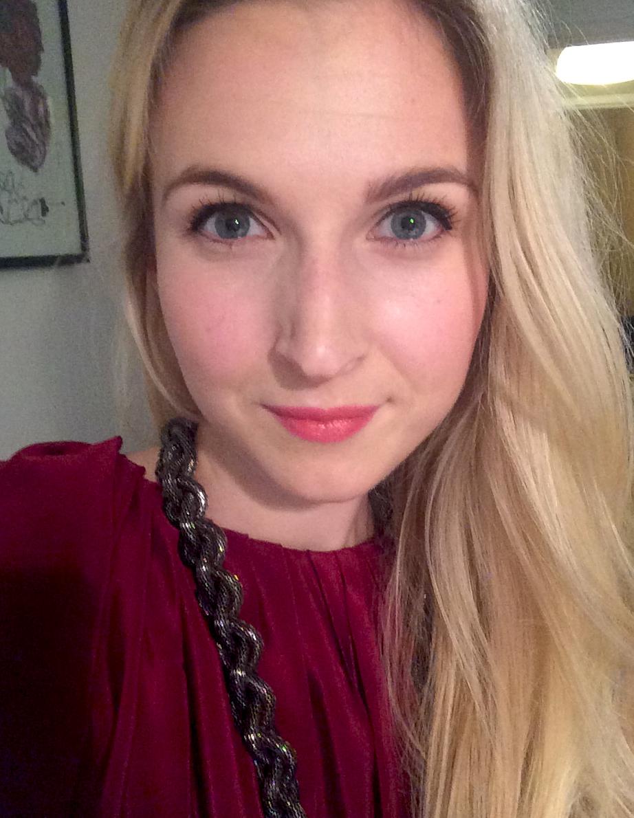 Andrea med eyeliner