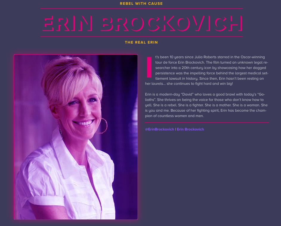 The real Erin Brockovich|skonhetssnack.se