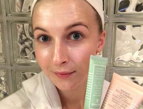 Andrea olofsson med sisley-masker | skonhetssnack.se