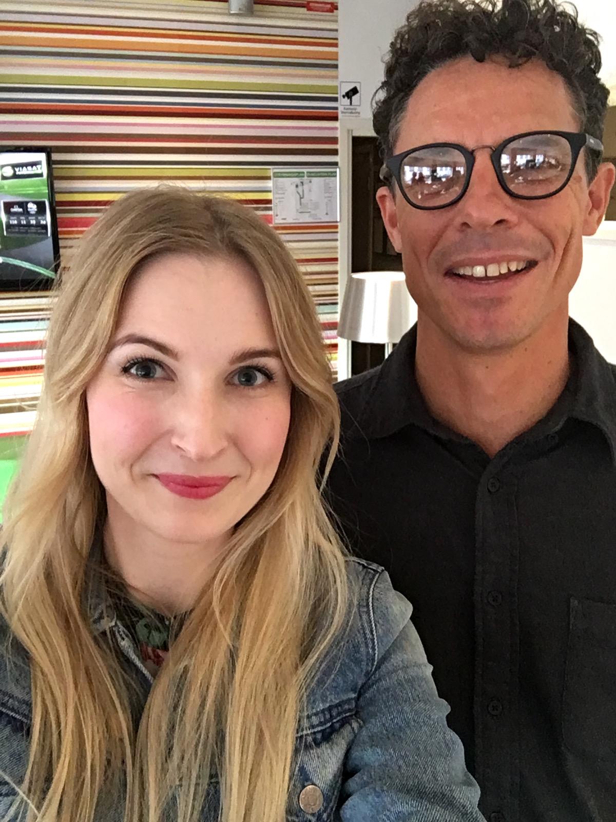 ESSE Probiotic Skincare Selfie Andrea Olofsson and Trevor Steyn|skonhetssnack.se