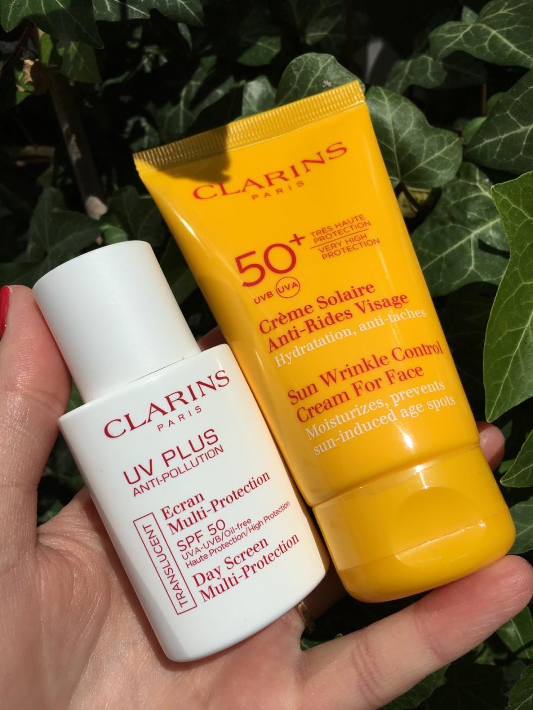 Clarins solskyddscremer|skonhetssnack.se