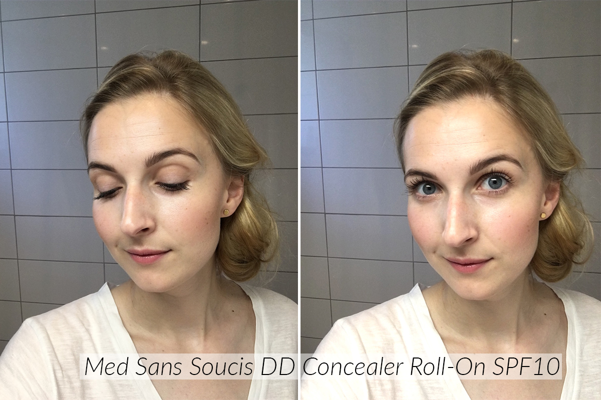 before and after sans soucis dd cream for eyes after