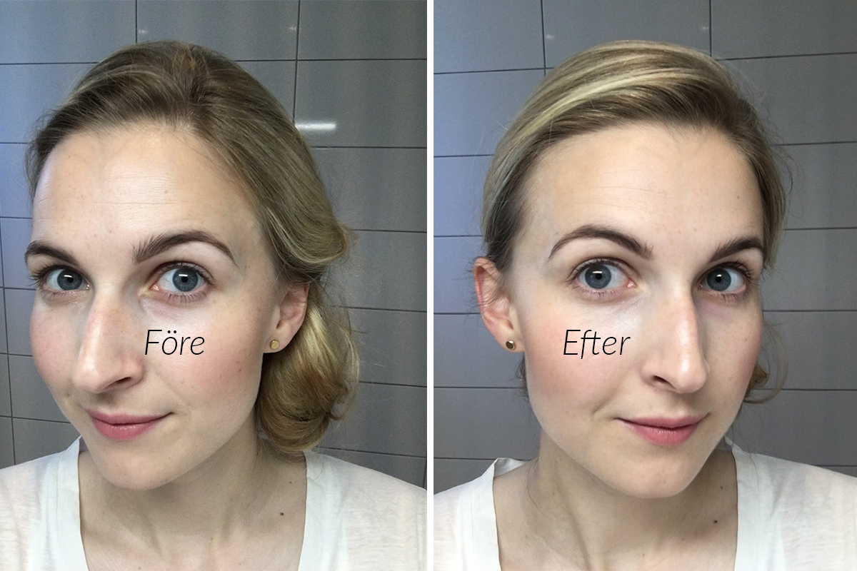before and after sans soucis dd cream for eyes2