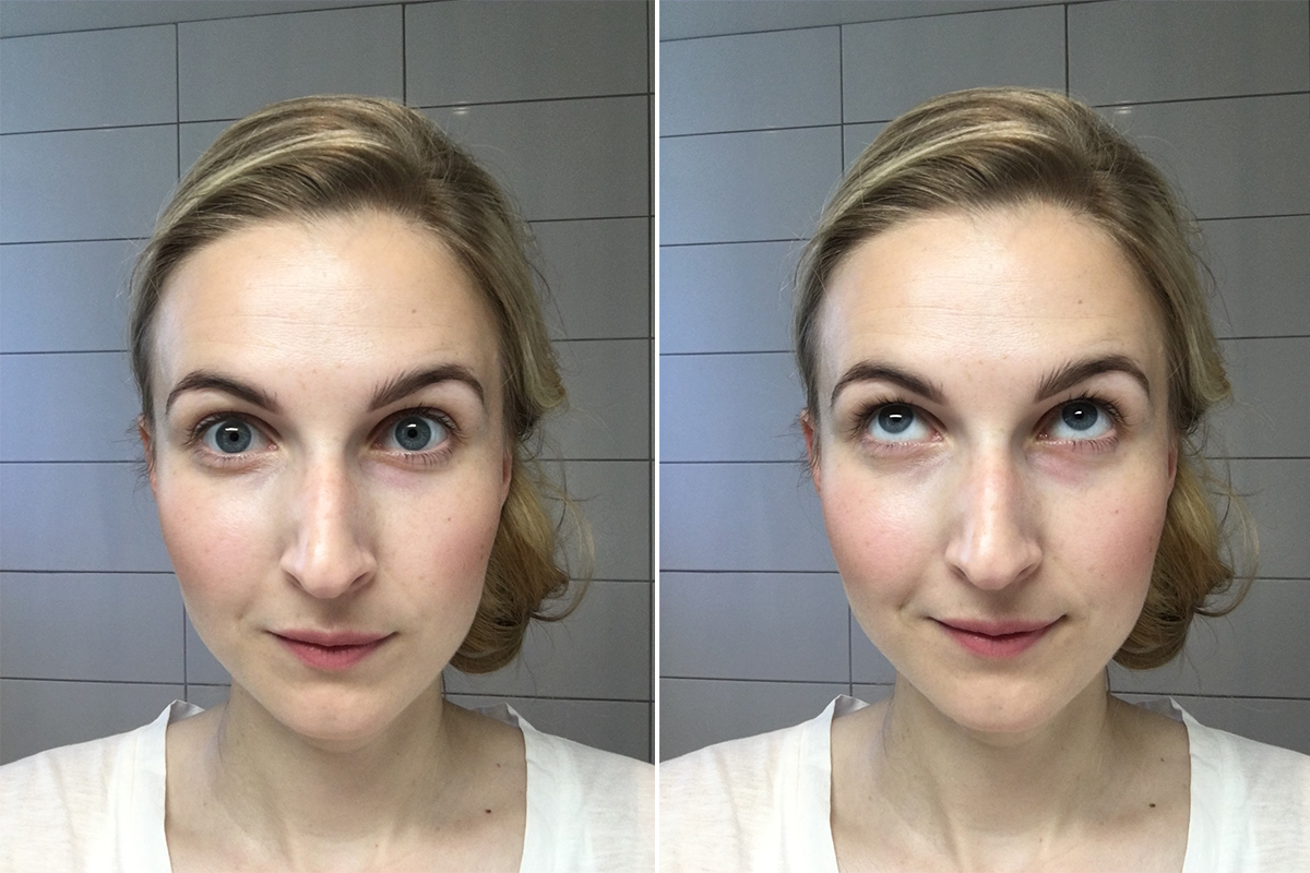 before and after sans soucis dd cream for eyes